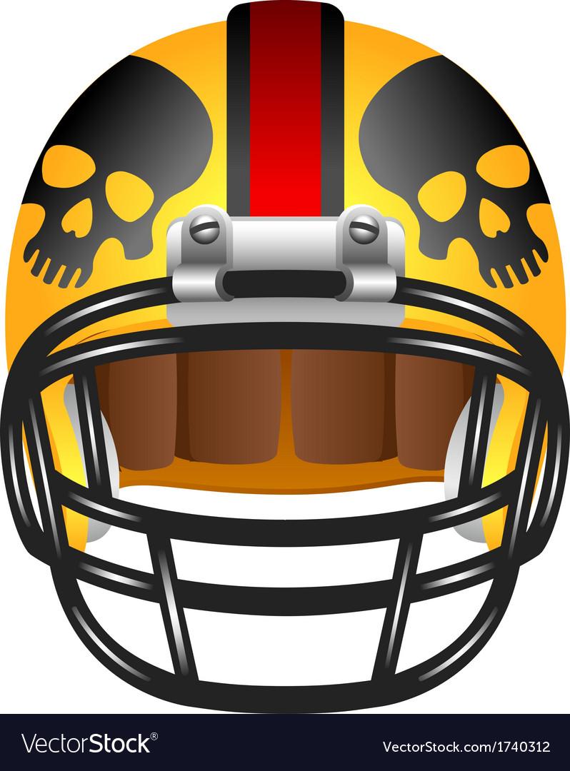 Football helmet with skul
