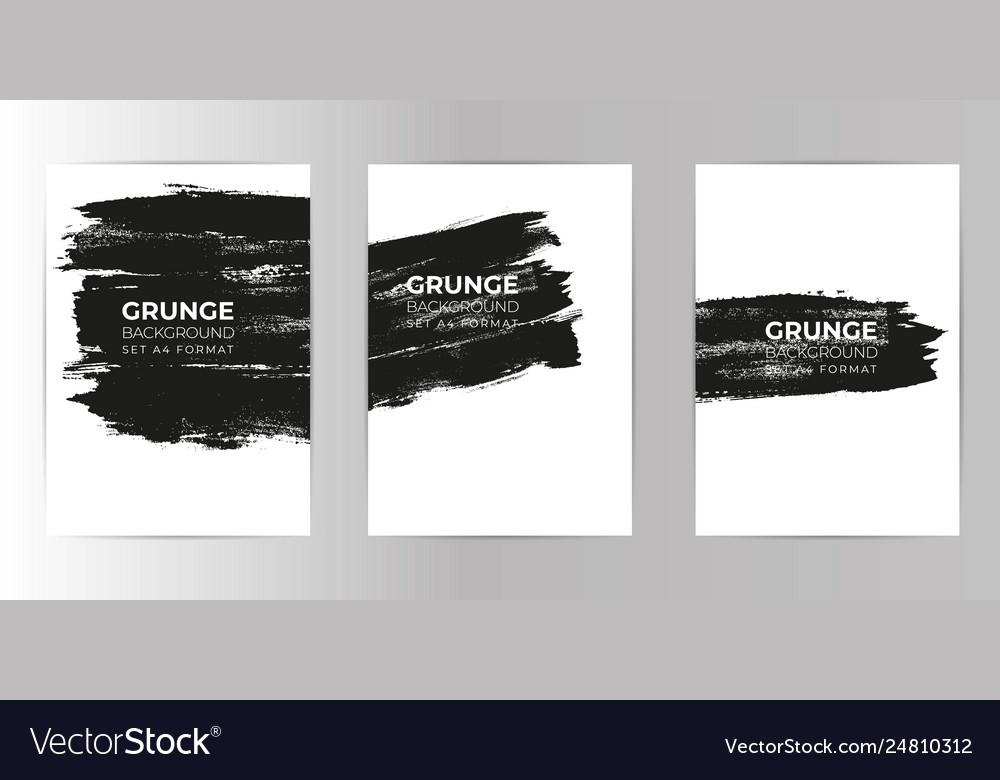 Grunge hand drawn background set a4 format vector