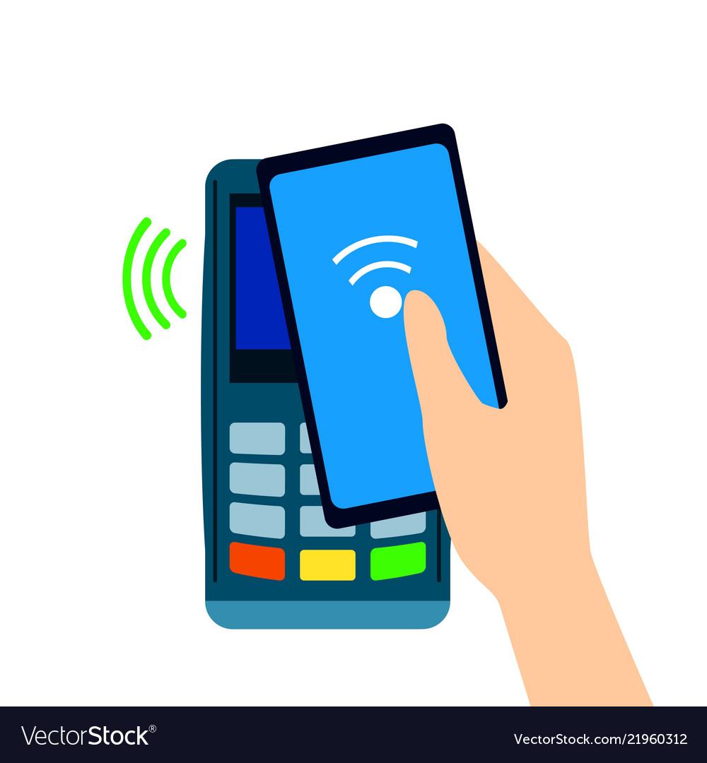 Pos terminal confirms the payment made through