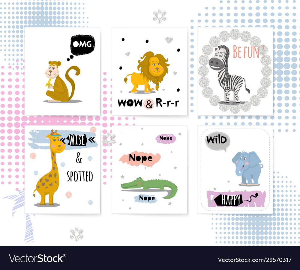 Cards with african animals and quotes leon