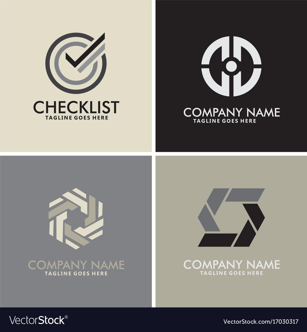 Checklist abstract circle logos