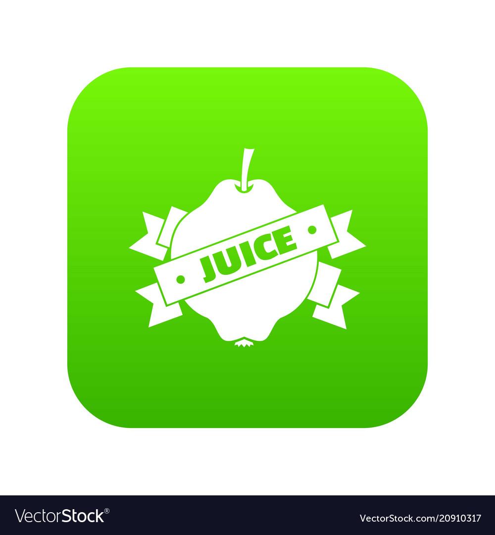 Fruit juice icon green