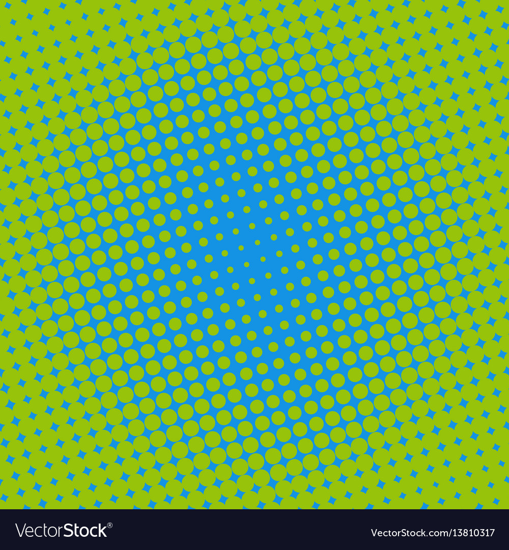 Halftone dots on green background