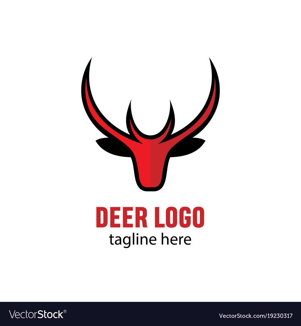 Head deer mascot stock