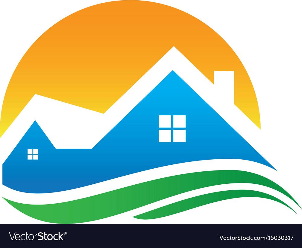 Home sunset wave logo image