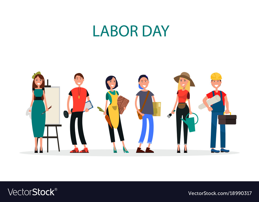 Labor Day Of Different Professions Graphic Design