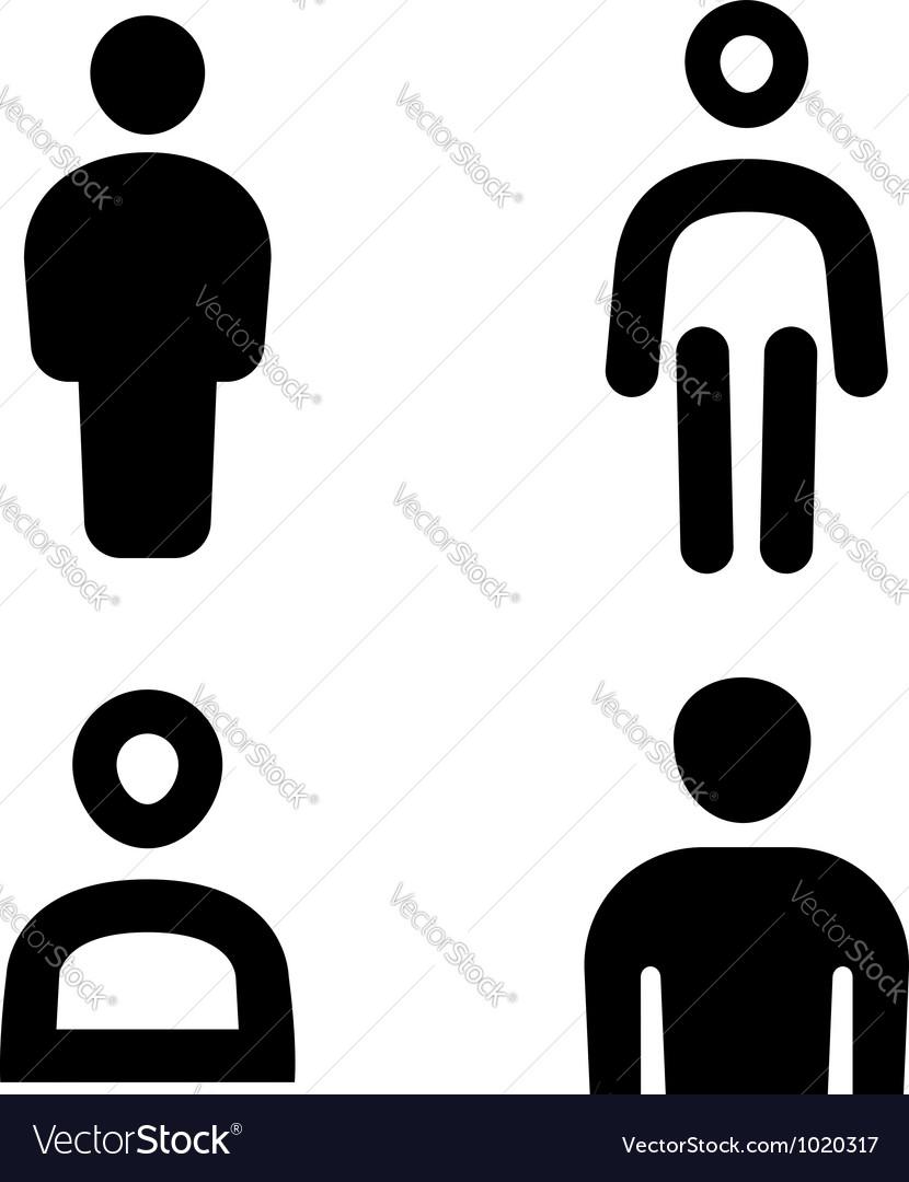 Man icon vector image