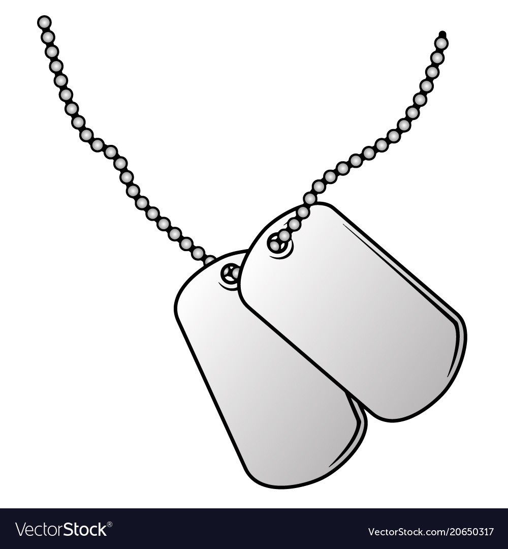 Military dog tags Royalty Free Vector Image - VectorStock bdd7216341a
