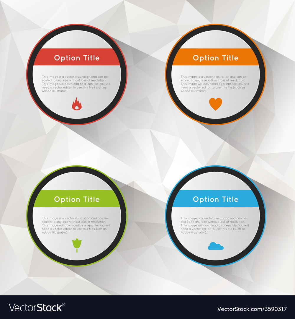 Options polygonal background set