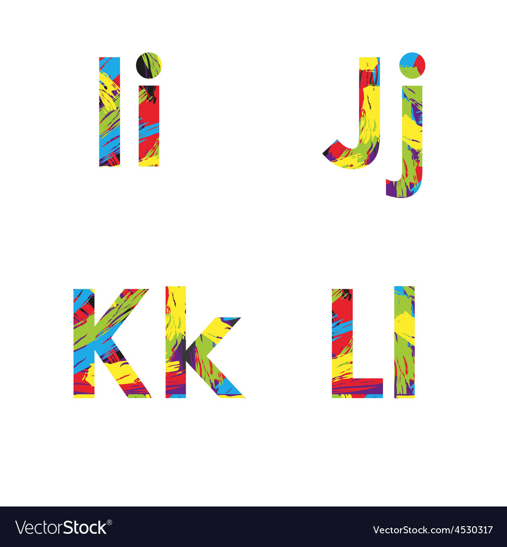 Set of colorful alphabets on abstract background