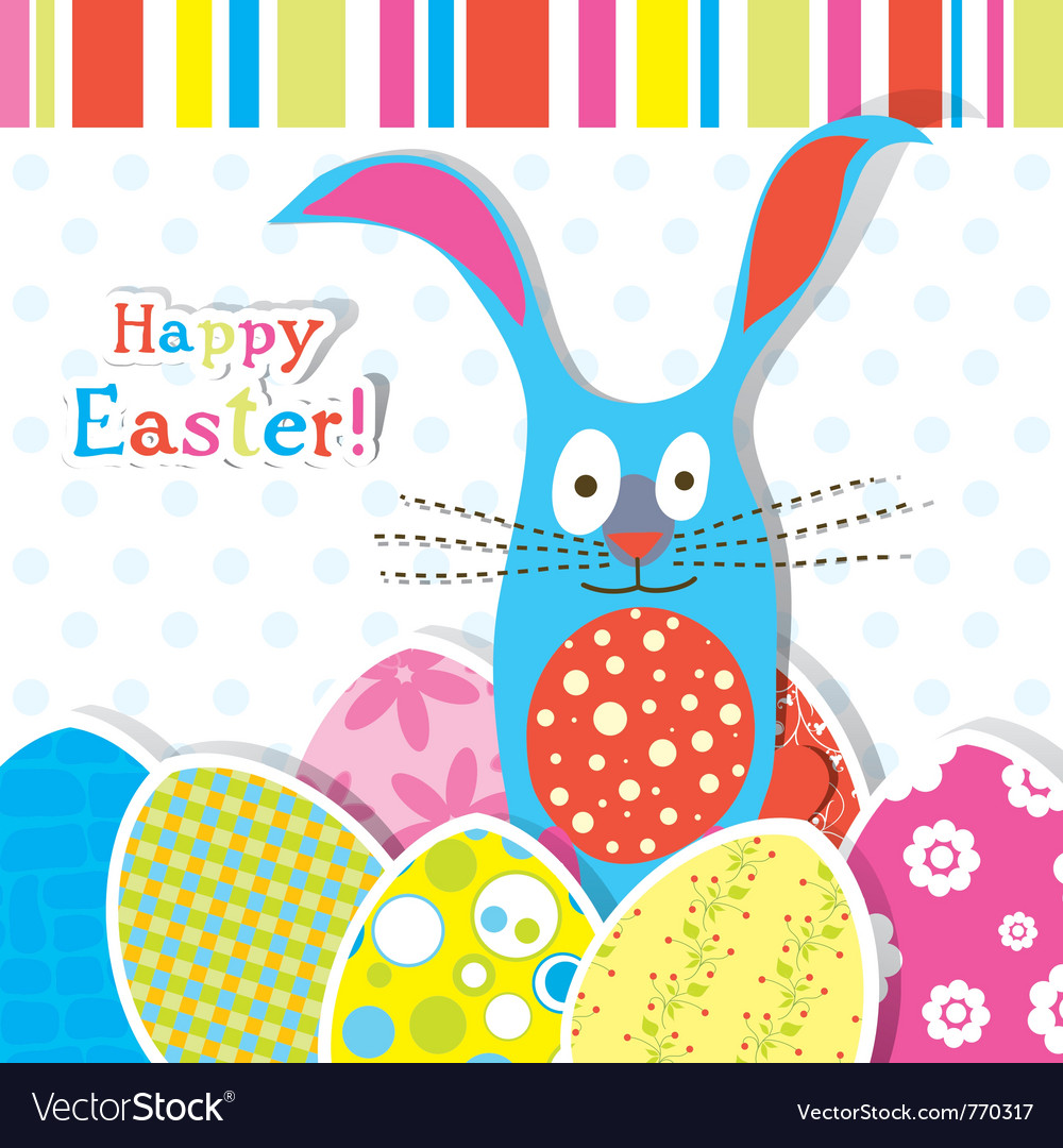 Template Easter Greeting Card Royalty Free Vector Image