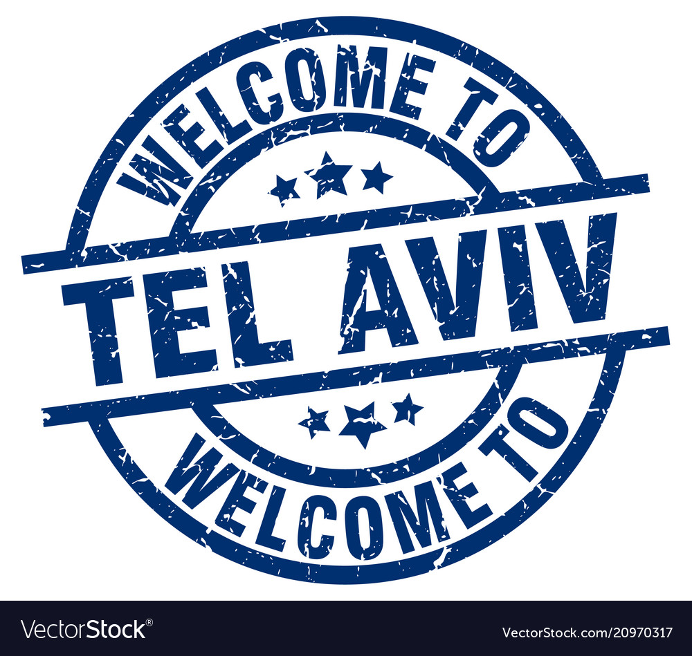 Welcome to tel aviv blue stamp
