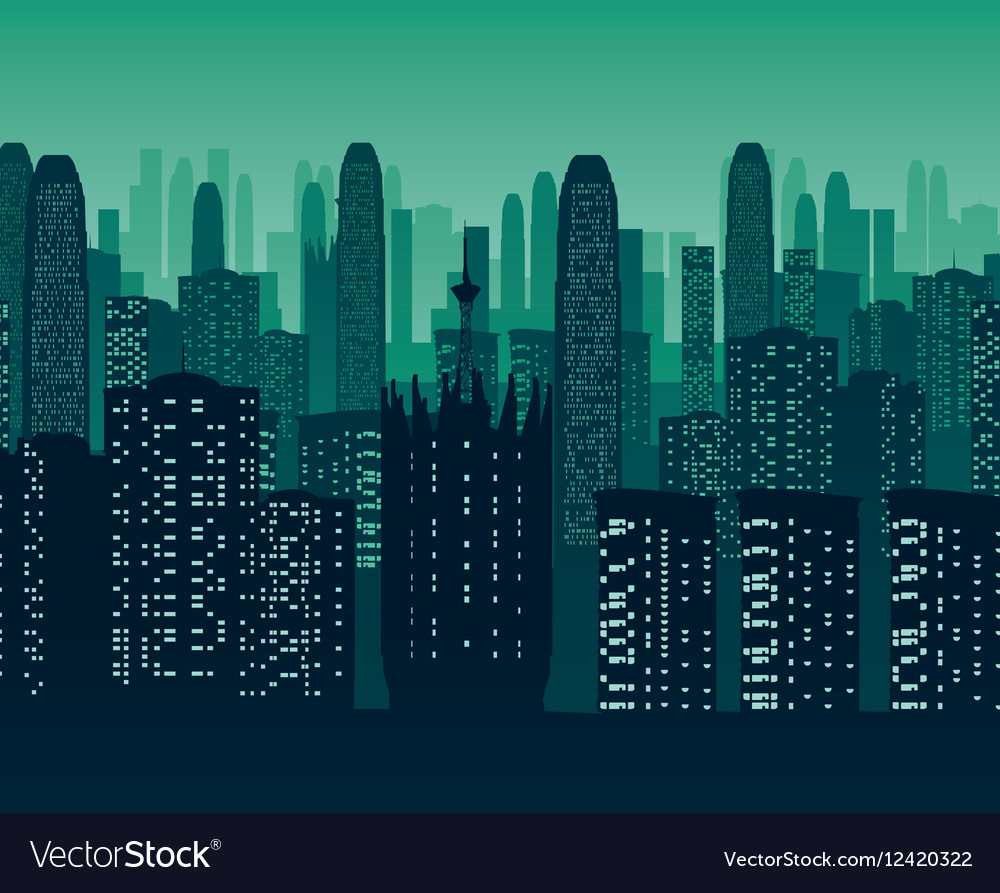 Background of night city vector image