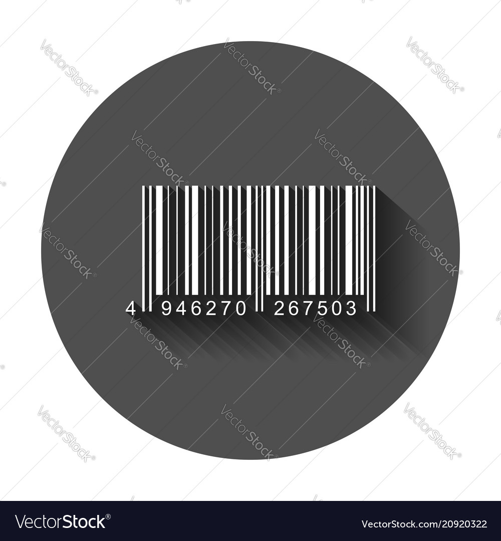 Barcode product distribution icon with long