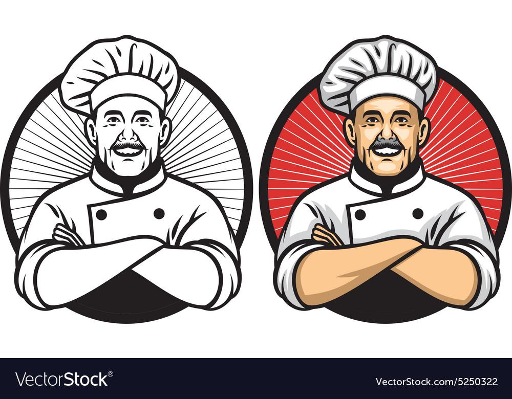 Chef crossing arm pose vector image
