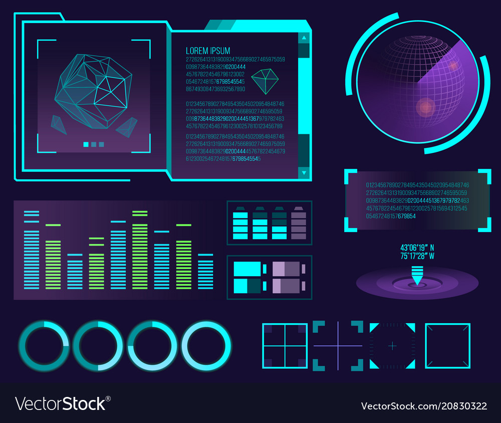 Futuristic interface space motion graphic