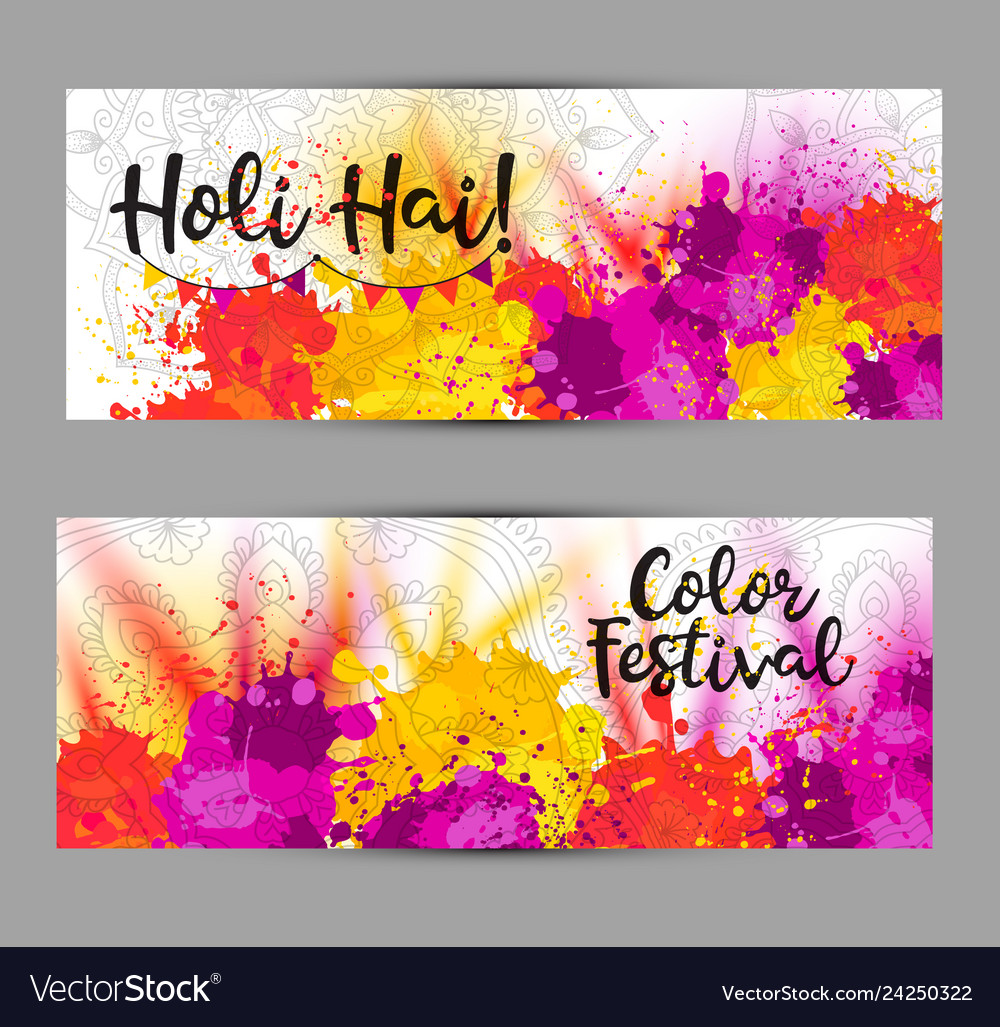 Holi spring festival background with