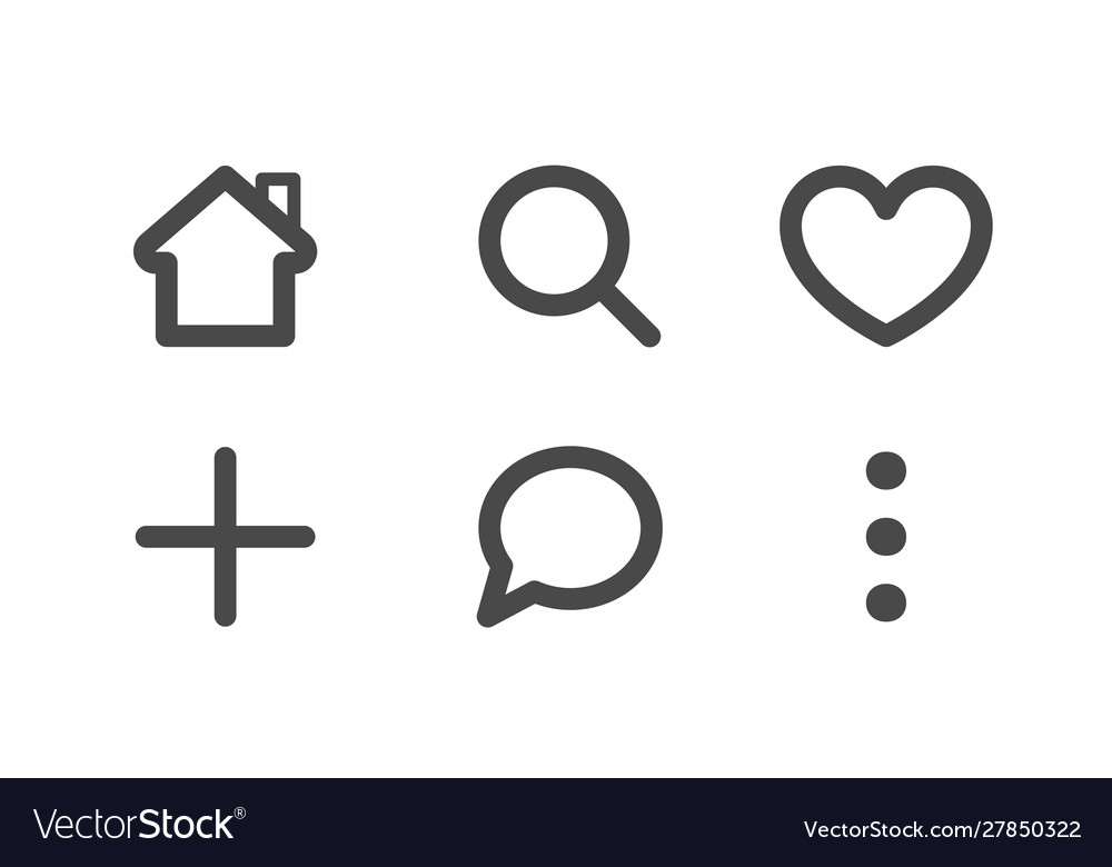 Line art set icon for mobile app collection of