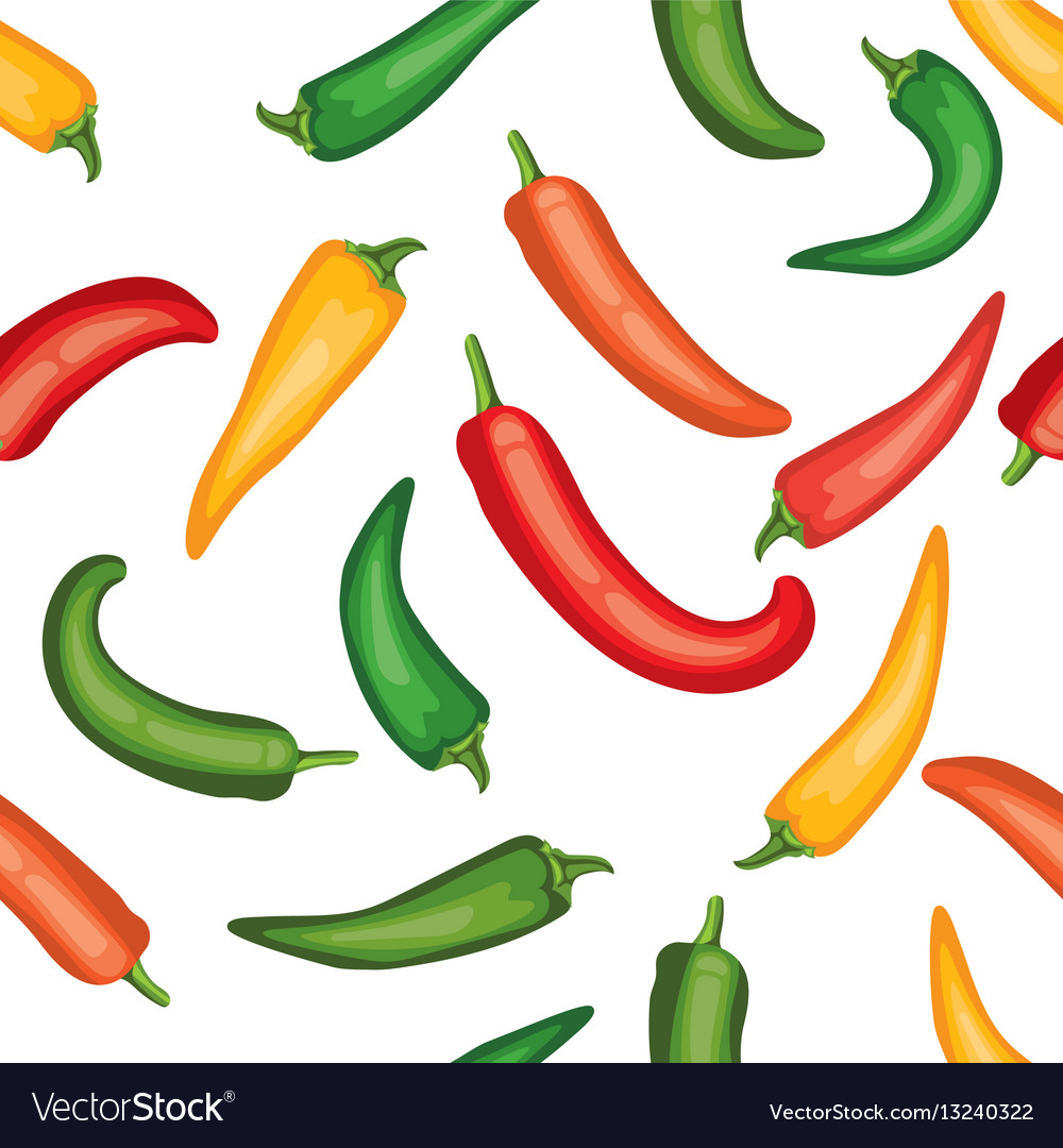 Seamless chile pepper pattern