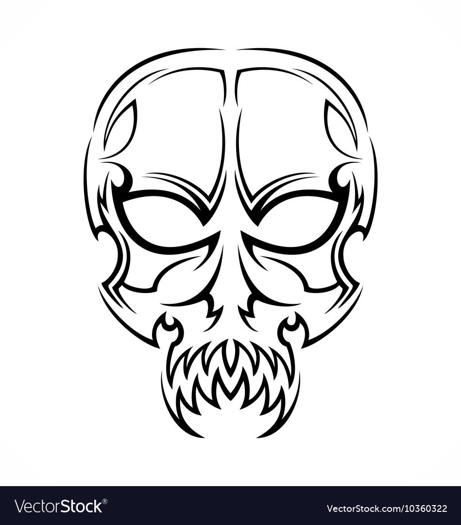 Tribal Skull Tattoo Design Royalty Free Vector Image