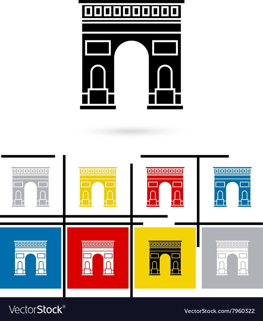 Triumphal Arch in Paris icon