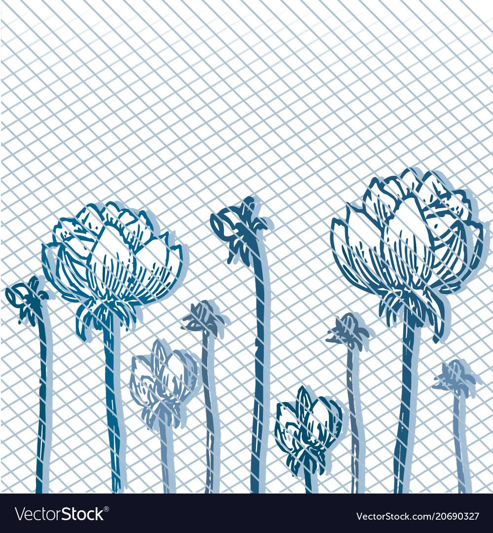Background of flowers vintage 2