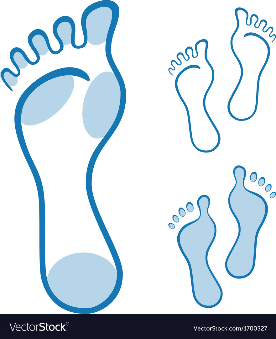 Feet made with curved lines