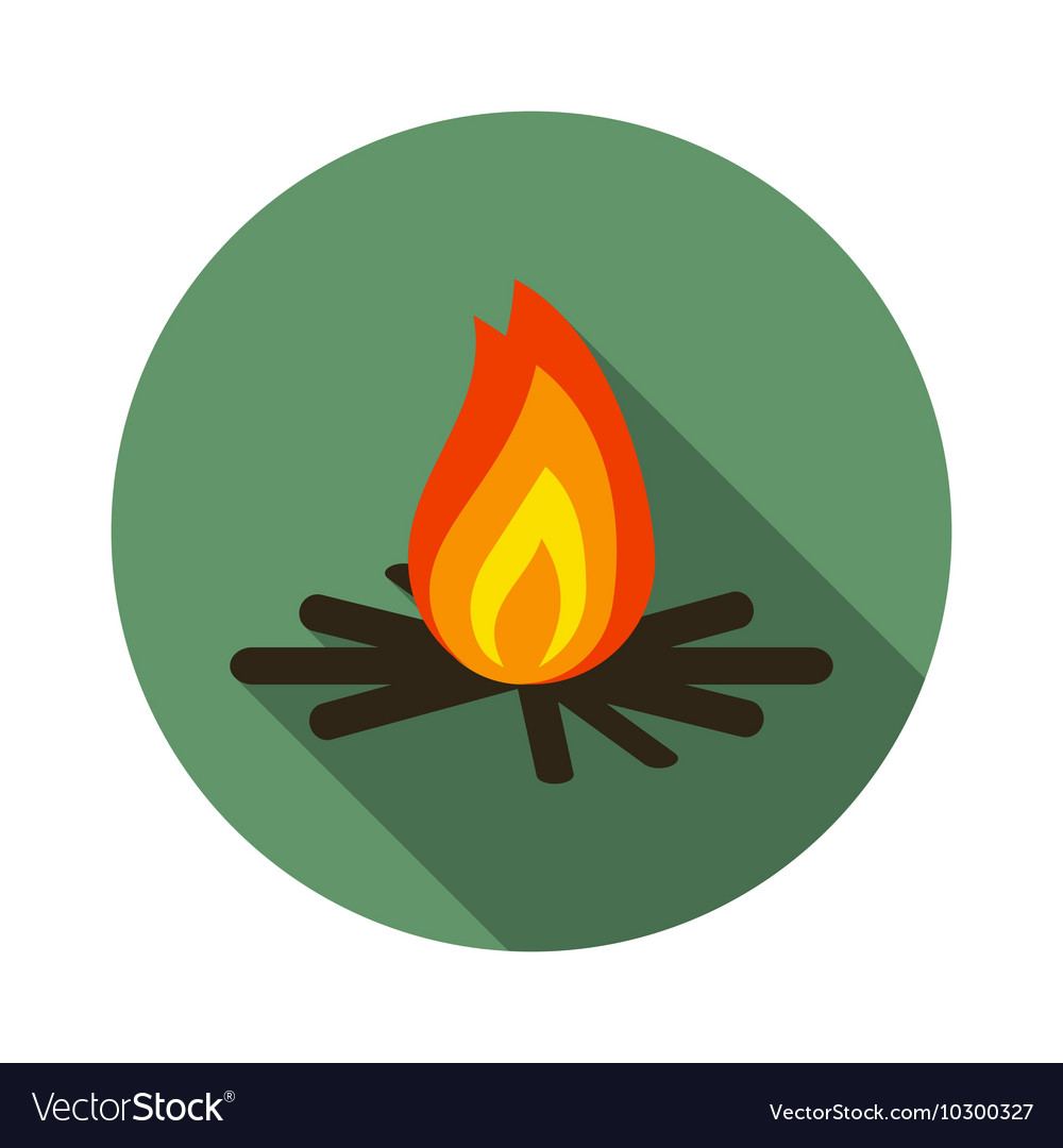 Flat design modern of bonfire icon camping and