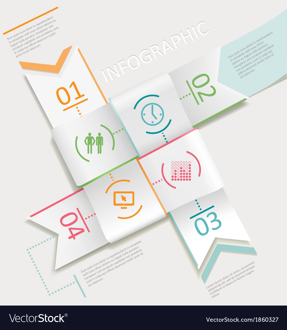 Infographics four ribbons