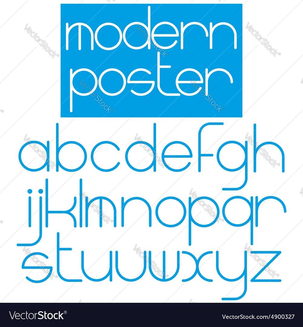 Modern font for poster brochure booklet flyer