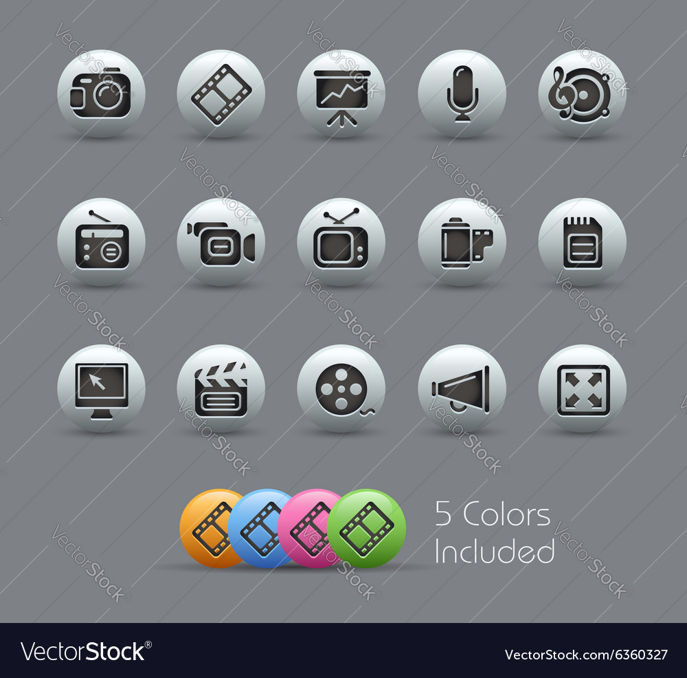 Multimedia Icons Pearly Series