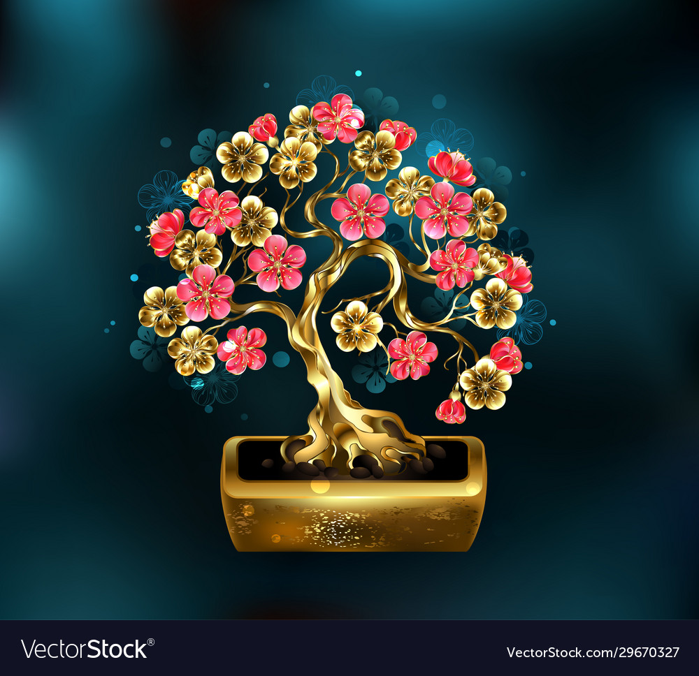 Precious bonsai vector