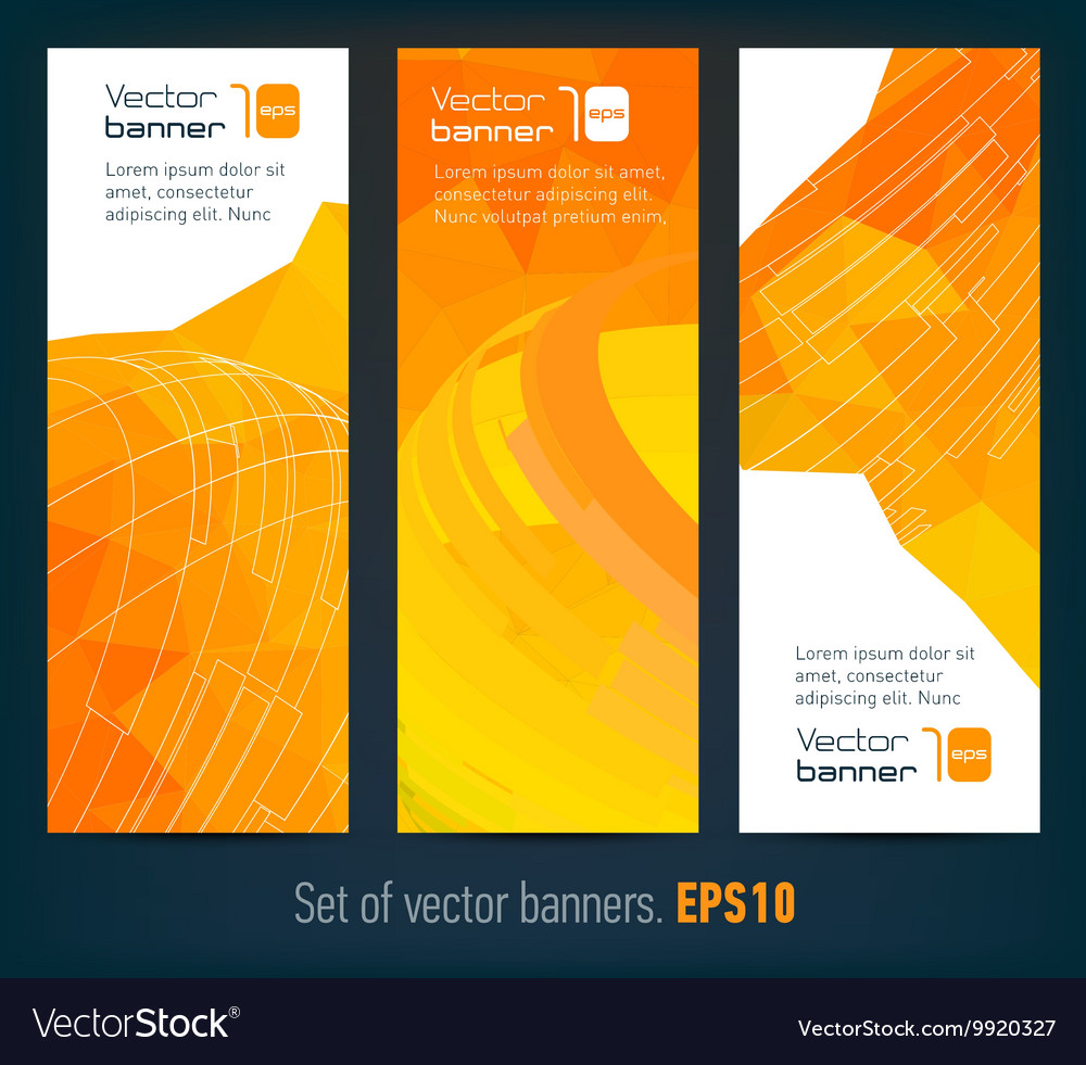 Set of banners with abstract background and text