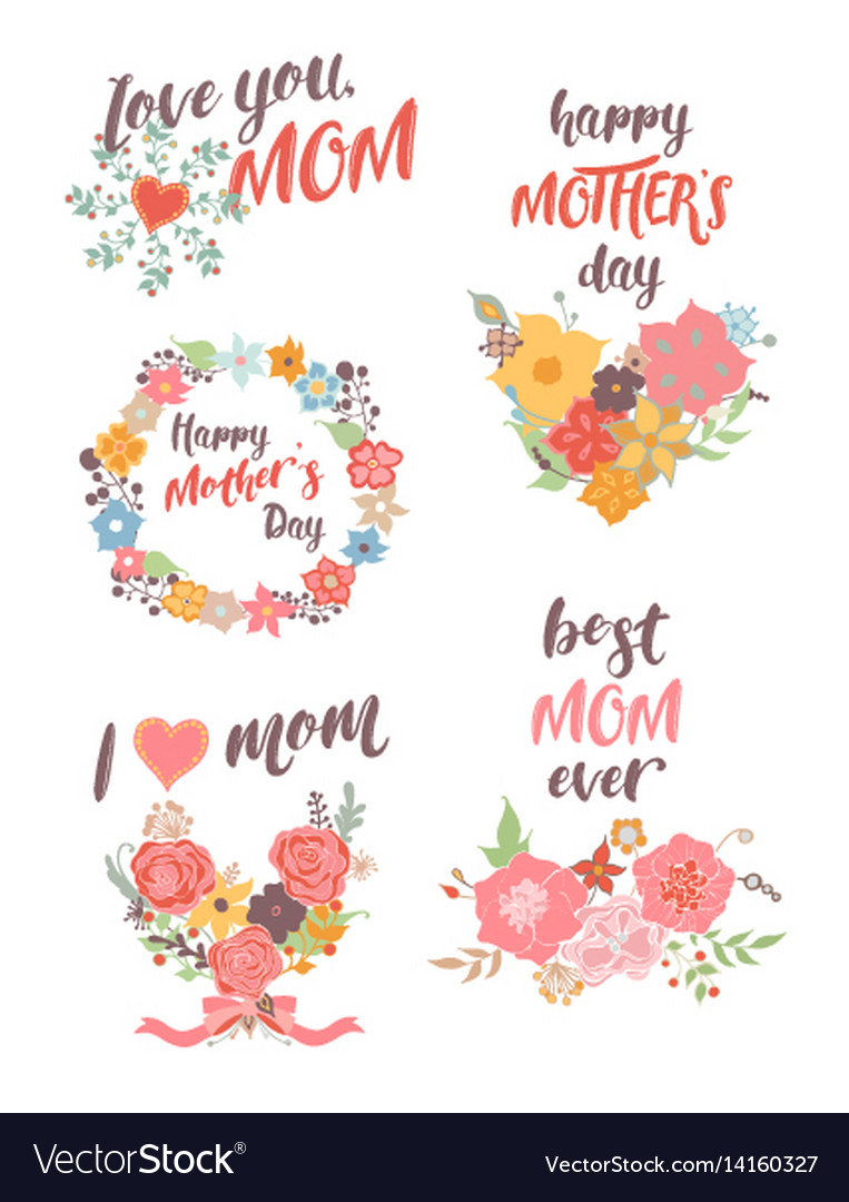 Set of lower templates of congratulations for