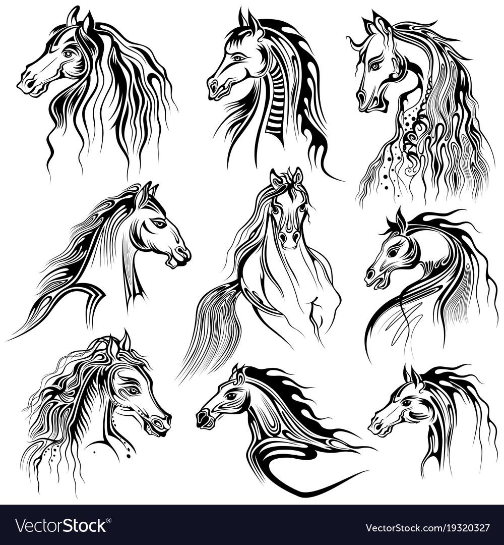 Tattoo art design horse collection
