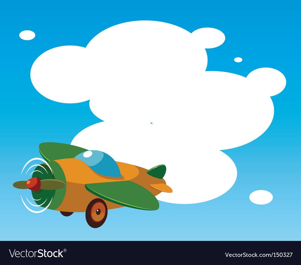 toy plane template royalty free vector image vectorstock