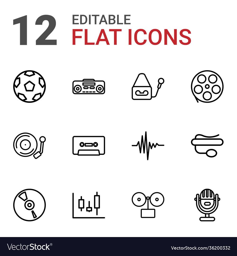 12 record icons