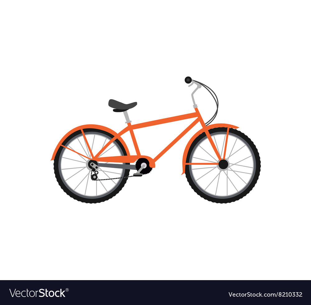 Bicycle Design Flat Isolated