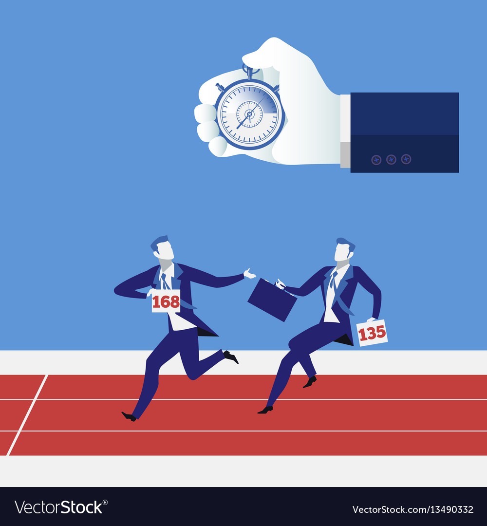 Business relay race concept vector image