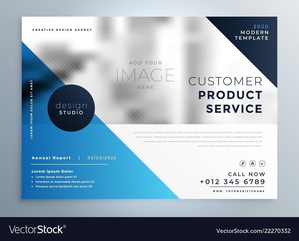 Geometric blue professional brochure design