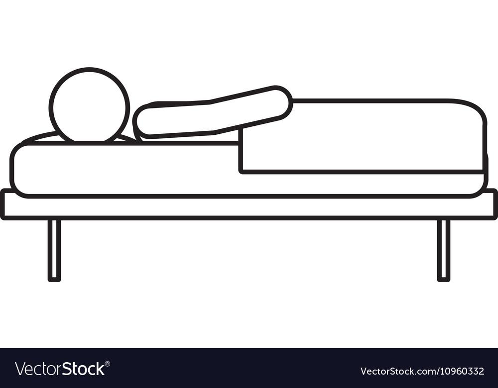 Isolated sleeping man design vector image