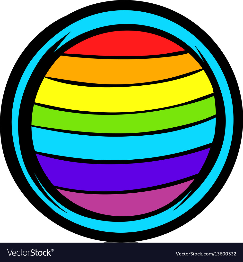 Lgbt colors on button shape icon icon cartoon