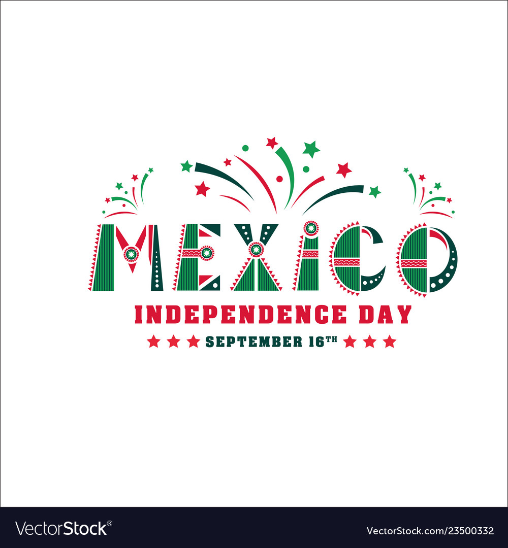 Mexico independence day card national holiday