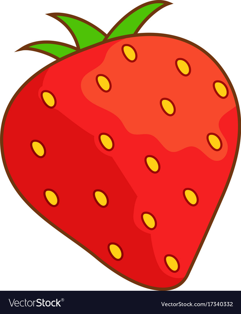 Strawberry Icon Cartoon Style Royalty Free Vector Image