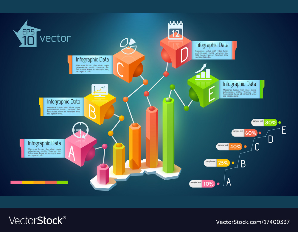 Abstract business chart infographics