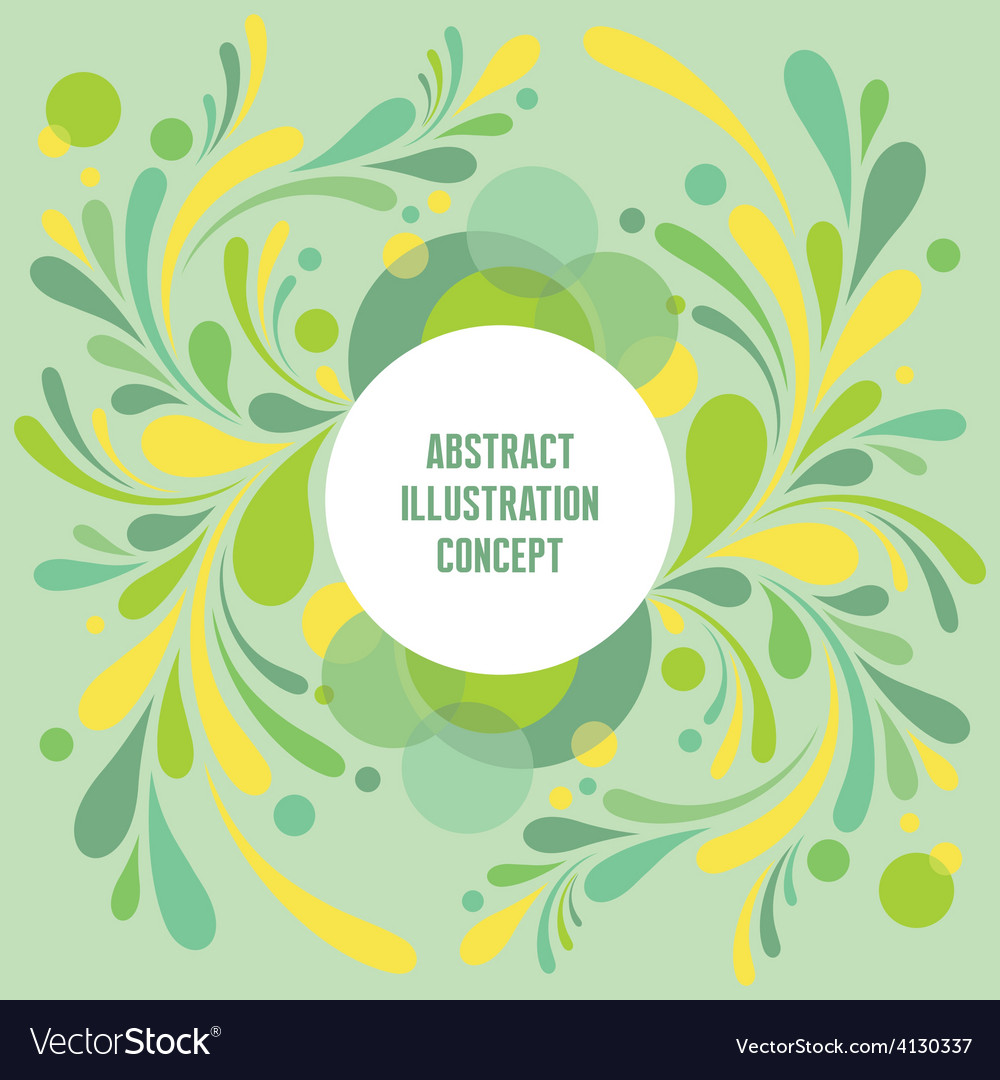 Abstract geometric background - green