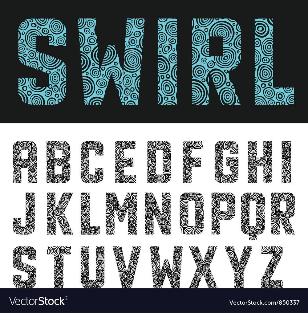 Abstract swirl alphabet