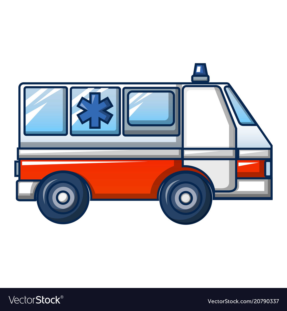 Ambulance truck icon cartoon style vector image