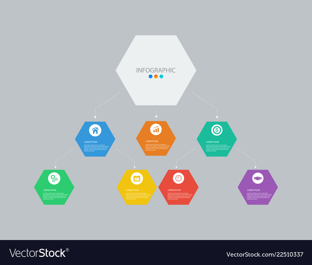 Business infographics tamplate with 7 options