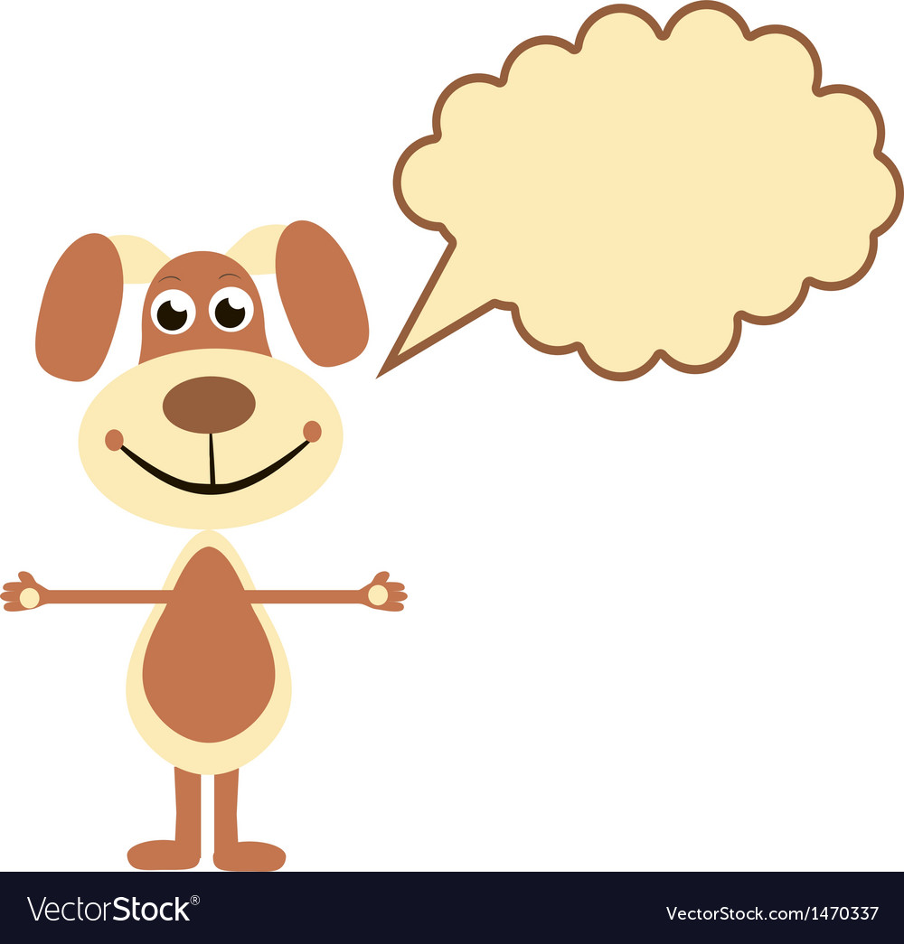 Cartoon dogs with speech bubble